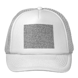 Silver Shimmer Glitter Trucker Hat