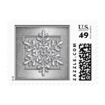 Silver Shimmer with Silver Snowflake Stamps
