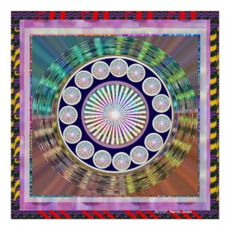 Silver Shine Chakra & High Energy Aura around Poster