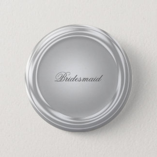Silver Shiny Look Pinback Button