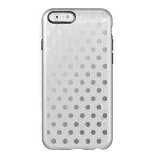 Silver Shiny Polka Dots Pattern Incipio Feather Shine iPhone 6 Case