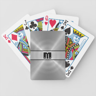 Silver Shiny Stainless Steel Metal 3 Bicycle Playing Cards