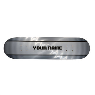 Silver Shiny Stainless Steel Metal 4 Skateboard