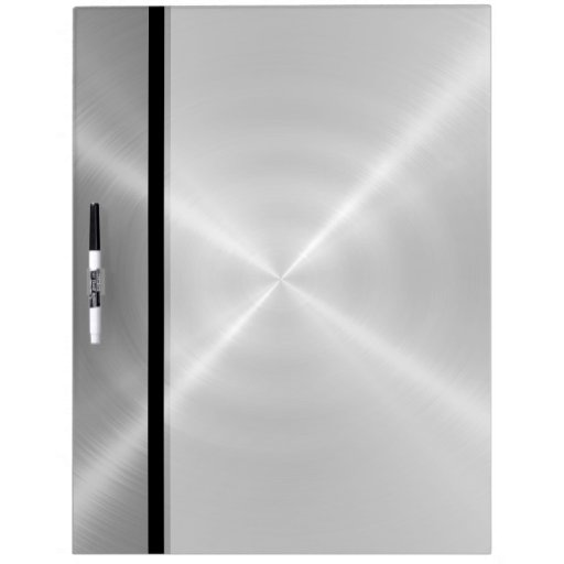 Metal Dry Erase Board : Silver shiny stainless steel metal dry erase board zazzle