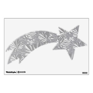Silver Shooting Star Right Wall Stickers