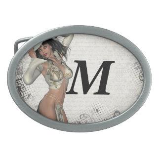 Silver showgirl belt buckle