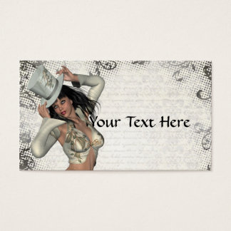Silver showgirl business card