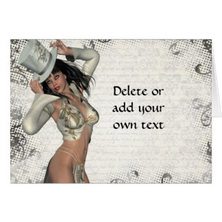 Silver showgirl greeting card
