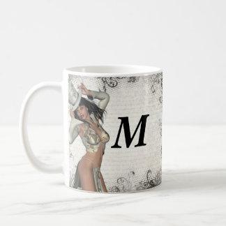 Silver showgirl coffee mug