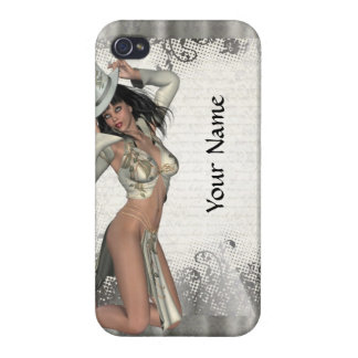 Silver showgirl iPhone 4 cover
