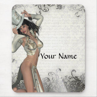 Silver showgirl mouse pad