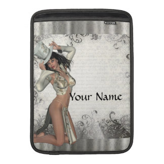 Silver showgirl sleeve for MacBook air