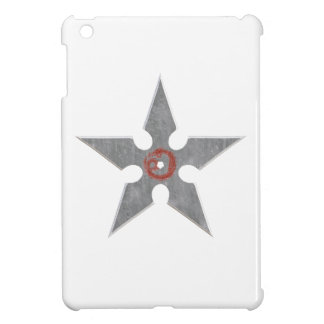Silver Shuriken with Red Dragon iPad Mini Cases