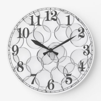 Silver side large clock