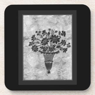 Silver Silhouette Cork Coasters by Janz