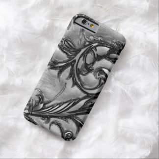 Silver Simulated Carved Gemstone iPhone 6 Case