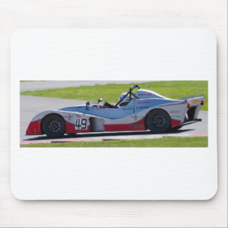 Silver single seater race car mouse pad