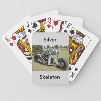 Silver Skeleton motorcycle card deck