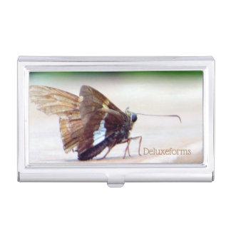 Silver Skipper Butterfly Business Card Case
