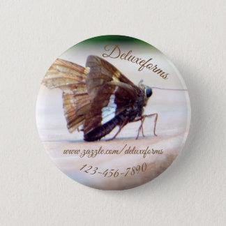 Silver Skipper Butterfly Button