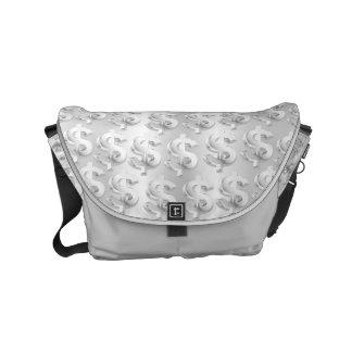 $ Silver $ Small Messenger Bag