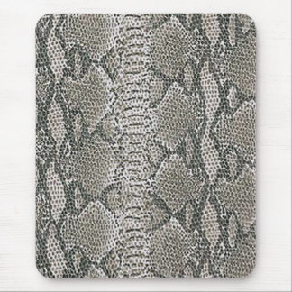 Silver Snake Skin Mouse Pad
