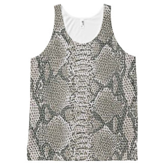 Silver Snake Skin Tank Top All-Over Print Tank Top