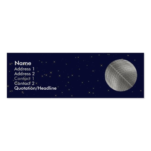Silver Snow Moon Business Card Templates