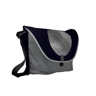 Silver Snow Moon Courier Bag