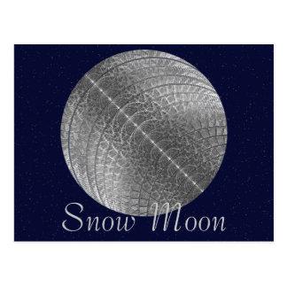 Silver Snow Moon Postcard