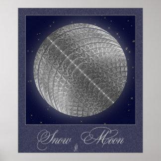 Silver Snow Moon Print