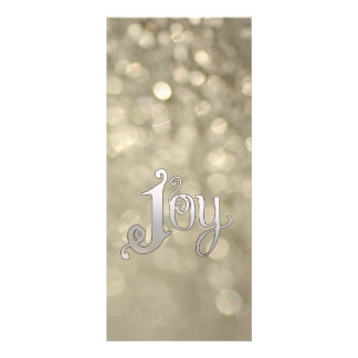 Silver Snowdust - Joy Personalized Rack Card