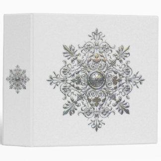 Silver Snowflake 3 Ring Binder