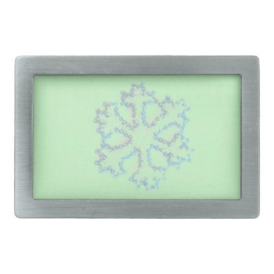 Silver Snowflake Belt Buckle