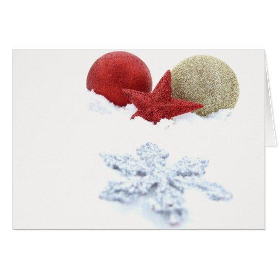 Silver Snowflake Card