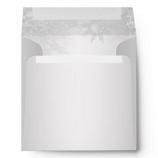 Silver Snowflake Christmas Envelopes