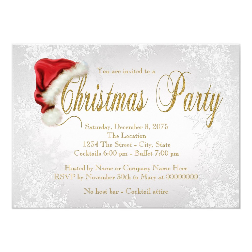 Silver Snowflake Christmas Party