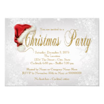 Silver Snowflake Christmas Party Invitation
