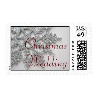 Silver Snowflake Christmas Wedding Postage