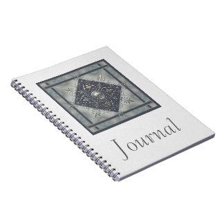 Silver Snowflake Denim Look Notebook