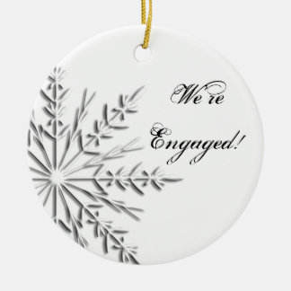 Silver Snowflake Engagement Ornament