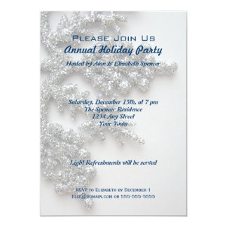 Silver Snowflake Holiday Party Card