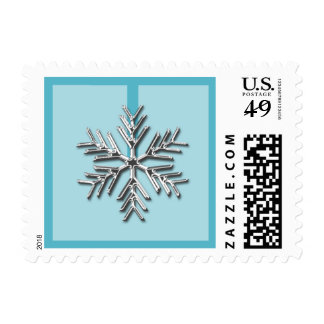 Silver Snowflake Holiday Postage Stamp