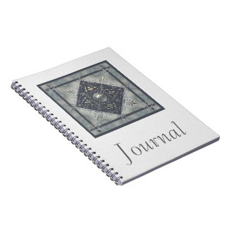 Silver Snowflake Pentacles Notebook