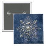 Silver Snowflake Pins