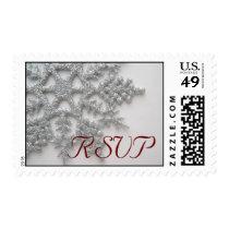 Silver Snowflake RSVP Postage