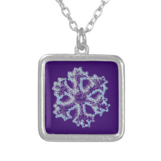 Silver Snowflake Silver Plated Necklace