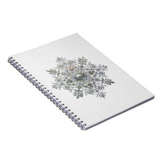 Silver Snowflake Spiral Notebook