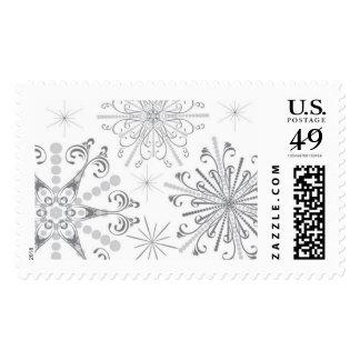 Silver Snowflake Stamp