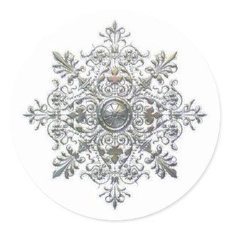 Silver Snowflake Sticker sticker